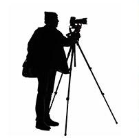 Silhouette photographe professionnel