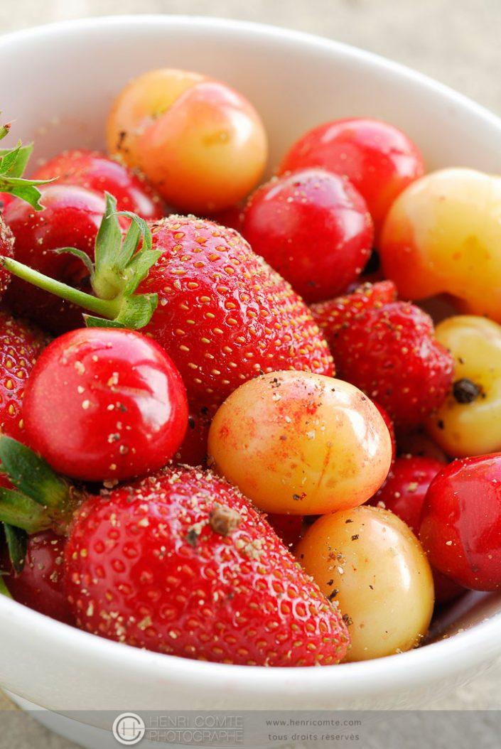 Photos culinaire de fraises