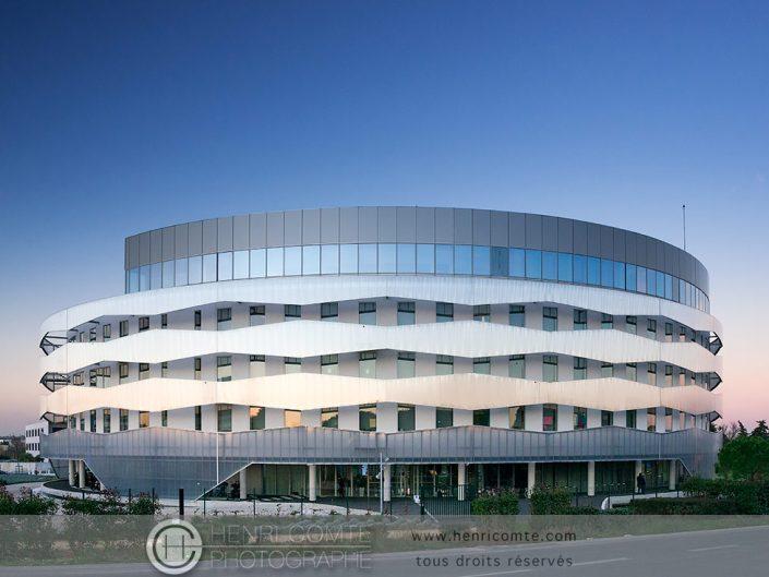 photographie d'architecture du siège de Montpellier