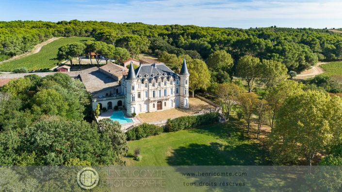 Chateau architecture drone