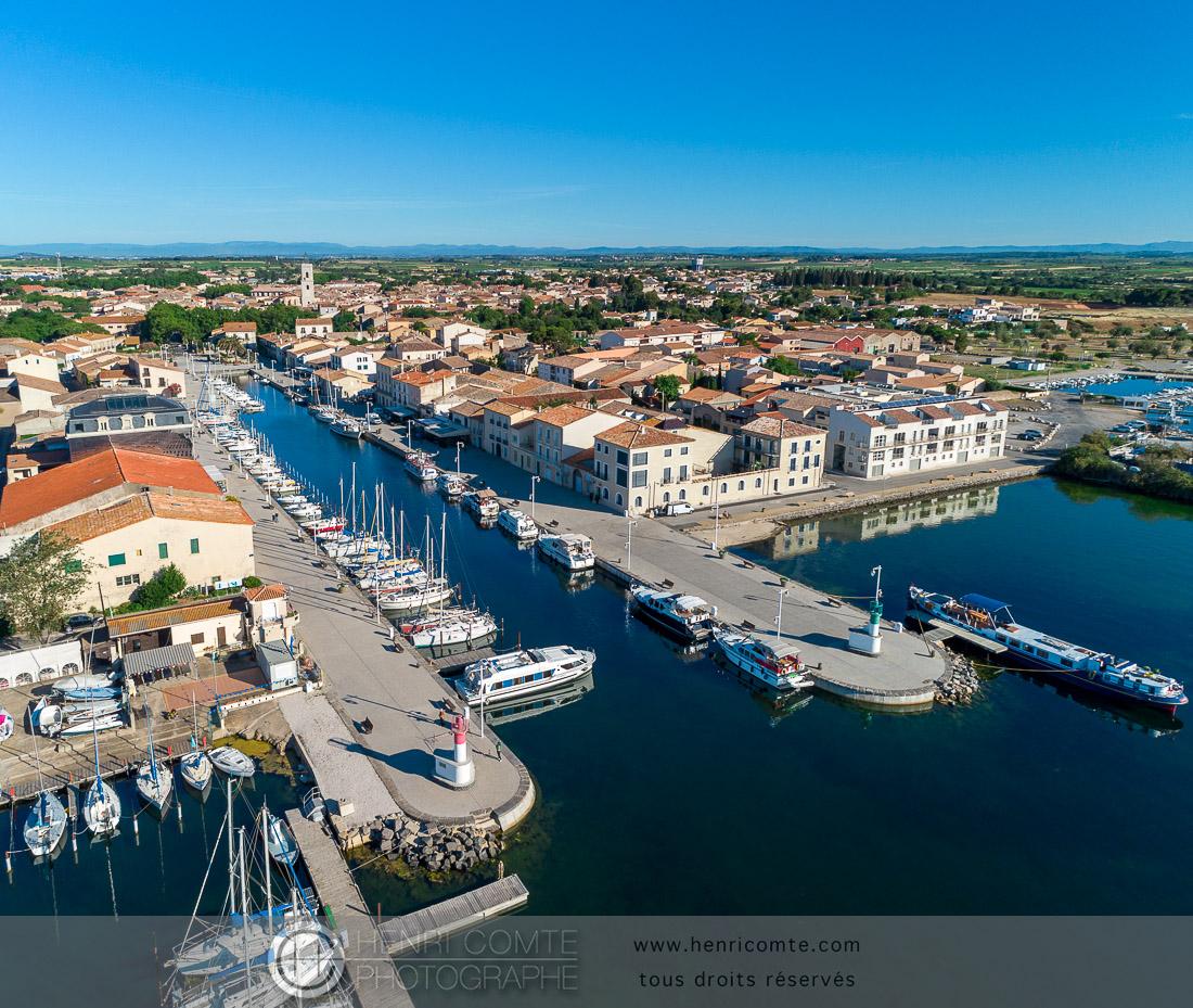 photo port de Marseillan étang de Thau