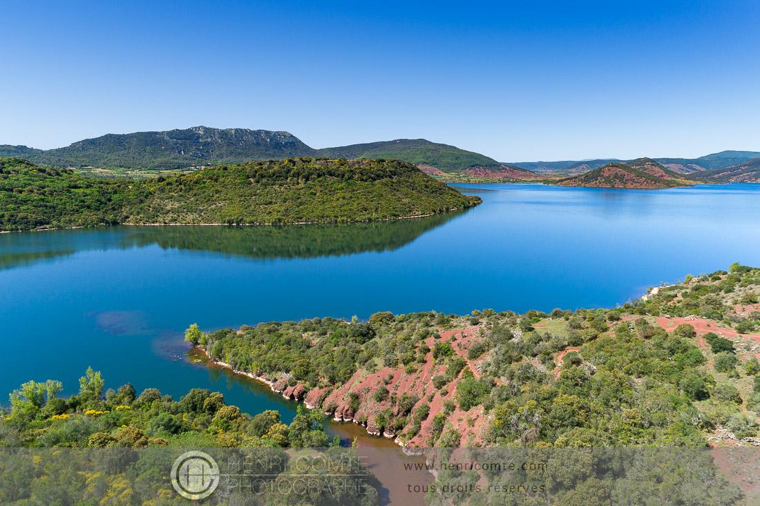 lac salagou en drone