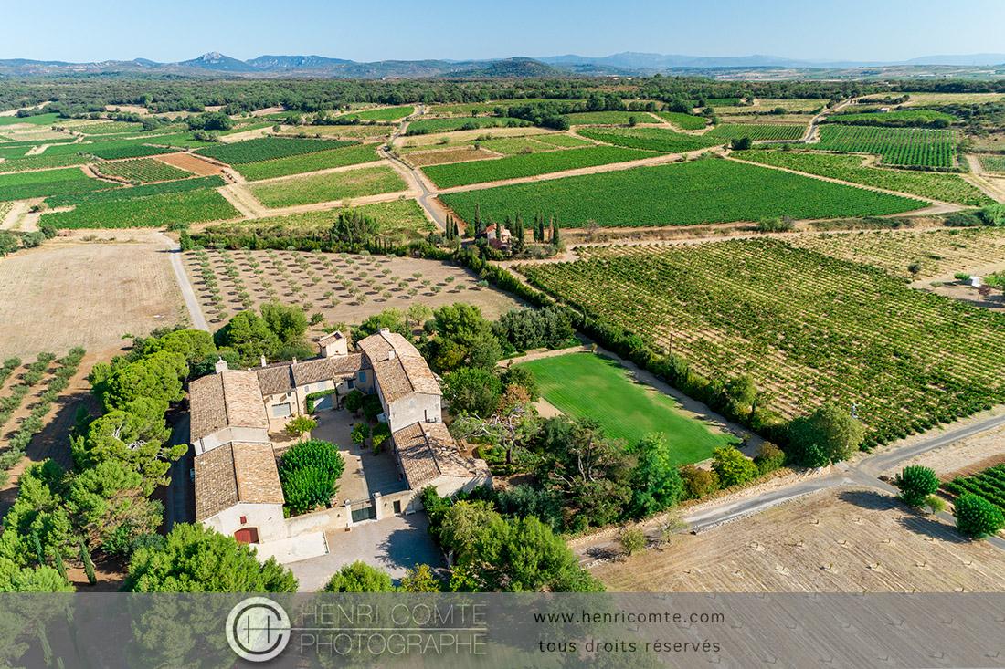 Domaine viticole dans l'Hérault drone