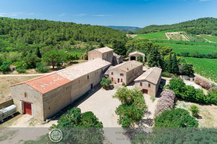 drone domaine viticole