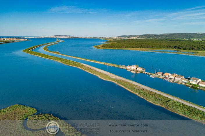 Canal du Rhône à Sète en drone