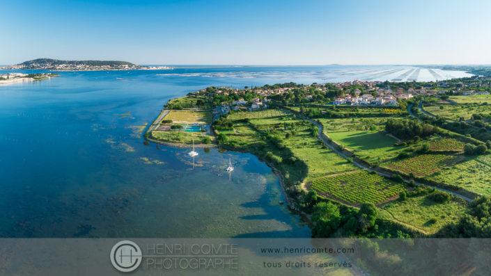 Bouzigues étang de Thau photo drone