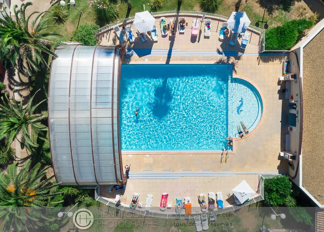 piscine drone tourisme