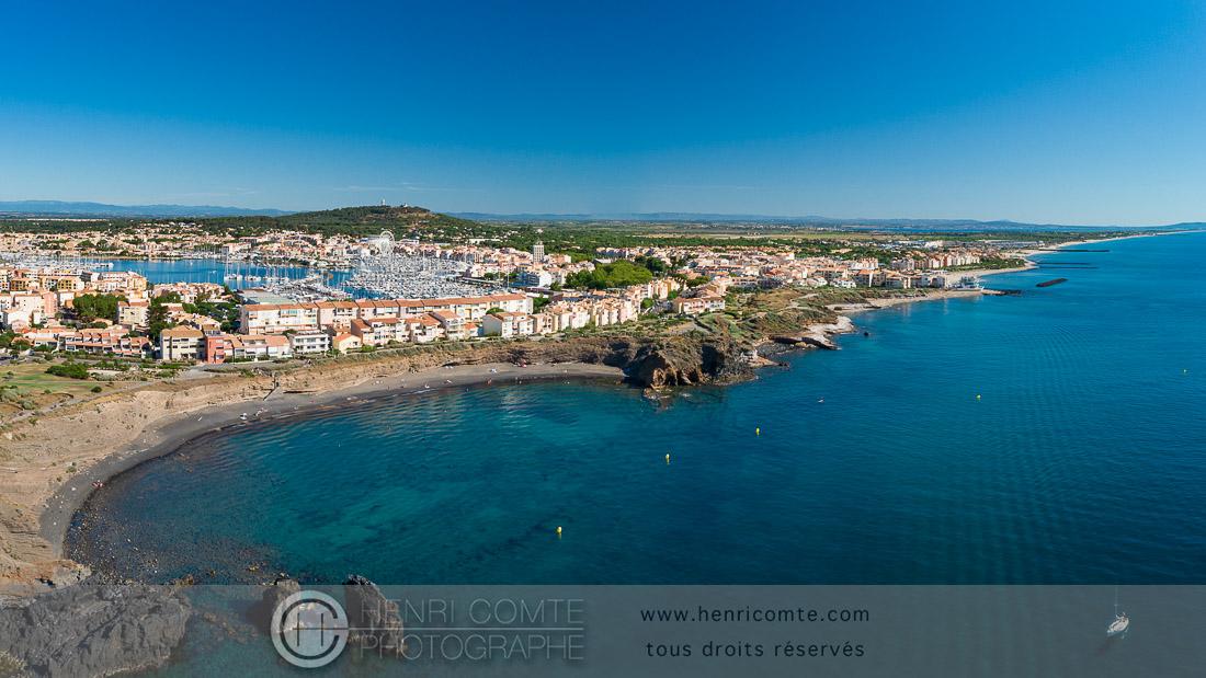 Côte rocheuse du Cap d'Agde drone